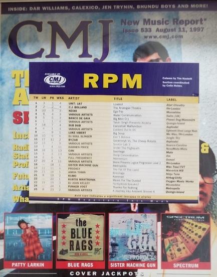 CMJ RPM Chart, Aug 11, 1997
